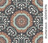 Vector Seamless Colored Ornate...