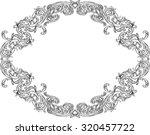 ornate acanthus ornament frame...   Shutterstock .eps vector #320457722