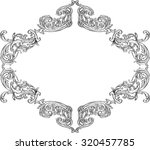ornate acanthus nice ornament... | Shutterstock .eps vector #320457785