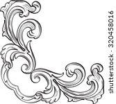baroque corner element is on... | Shutterstock .eps vector #320458016