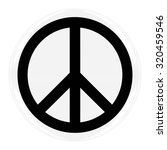 peace symbol badge   flag of... | Shutterstock . vector #320459546