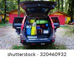 travel car and camping luggage... | Shutterstock . vector #320460932