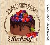 cake with berries. | Shutterstock .eps vector #320469956