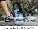 close up of hiking boots... | Shutterstock . vector #320476772