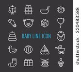 set of baby line icon isolated...