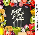 pizza party invitation with...