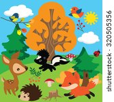 forest animal vector... | Shutterstock .eps vector #320505356