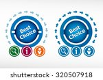 best choice message and... | Shutterstock .eps vector #320507918