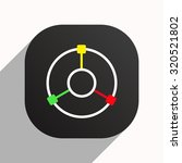 gps navigation. icon. vector... | Shutterstock .eps vector #320521802