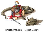 Warrior Defeated Giant Snake ...