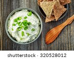 Bowl Of Cream Cheese With Gree...