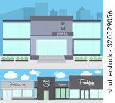 modern store   mall building on ... | Shutterstock .eps vector #320529056