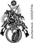snake tattoo cobra | Shutterstock .eps vector #320529746