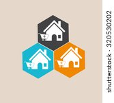 home vector icon. shopping web... | Shutterstock .eps vector #320530202