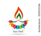 illustration of diwali for the... | Shutterstock .eps vector #320531336