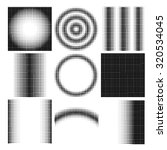 halftone dots on white... | Shutterstock . vector #320534045