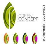 set of abstract eco plant icons ... | Shutterstock .eps vector #320544875