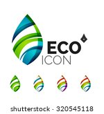 set of abstract eco leaf icons  ...   Shutterstock .eps vector #320545118