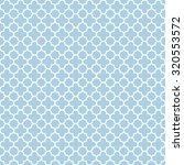 blue   white quatrefoil pattern ... | Shutterstock .eps vector #320553572