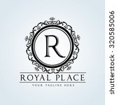 royal place logo boutique hotel ... | Shutterstock .eps vector #320585006