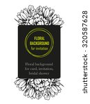 vintage delicate invitation...   Shutterstock .eps vector #320587628