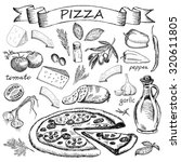pizza ingredient | Shutterstock .eps vector #320611805