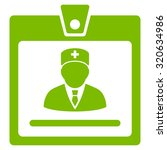 doctor badge vector icon. style ...   Shutterstock .eps vector #320634986