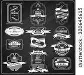 black retro sales best quality ... | Shutterstock . vector #320645615