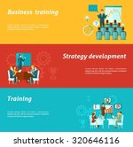 business training horizontal... | Shutterstock . vector #320646116