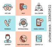 call center design concept set... | Shutterstock . vector #320653922