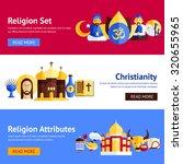religion horizontal banner set... | Shutterstock . vector #320655965