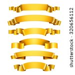 realistic 3d golden glossy... | Shutterstock . vector #320656112