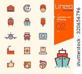 lineo colors   logistics and... | Shutterstock .eps vector #320656796