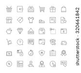 thin line icons set. flat... | Shutterstock .eps vector #320661842