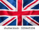 Closeup Of Union Jack Flag. Uk...