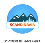 logotype round form with... | Shutterstock .eps vector #320686085