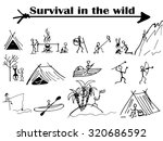 survival  a group of people in... | Shutterstock .eps vector #320686592