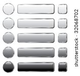 vector gray buttons for... | Shutterstock .eps vector #32068702