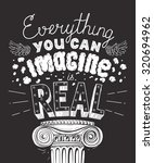 everything you can imagine is... | Shutterstock .eps vector #320694962
