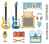 collection of music equipment... | Shutterstock .eps vector #320700302