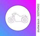 Flat Design Icon   Motorbike