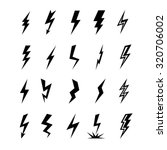 lightning vector set isolated...
