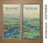 Countryside Theme Vector Card...