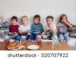 five sweet kids  friends ... | Shutterstock . vector #320707922