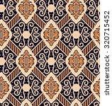 seamless javanese batik pattern | Shutterstock .eps vector #320715452