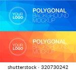horizontal  polygonal banners | Shutterstock .eps vector #320730242