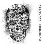 grunge skull | Shutterstock .eps vector #320737562