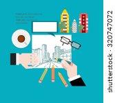 architecture concept. flat... | Shutterstock .eps vector #320747072
