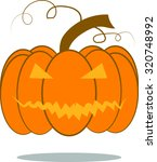 pumpkin background halloween | Shutterstock .eps vector #320748992