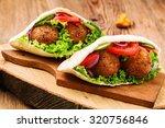 Falafel And Fresh Vegetables I...